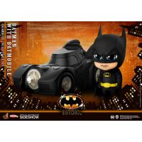 Batman (1989) Cosbaby Mini Figures Batman with Batmobile 12 cm
